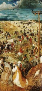 La-salita-al-Calvario-Bruegel